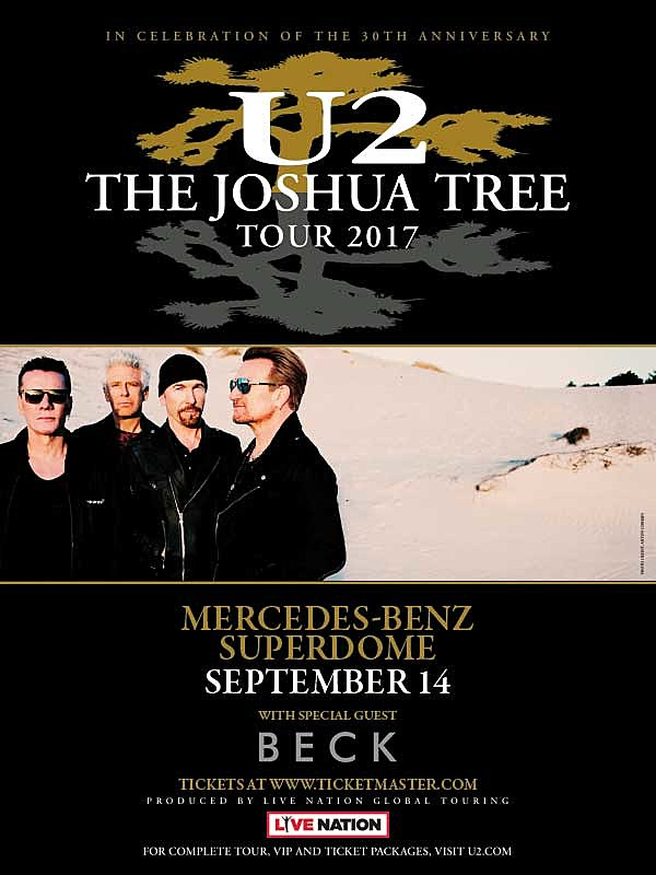 The Joshua Tree Tour  Mercedes Benz Superdome September